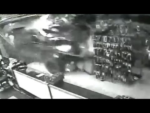 Arab Today, arab today truck smashed into gun shop