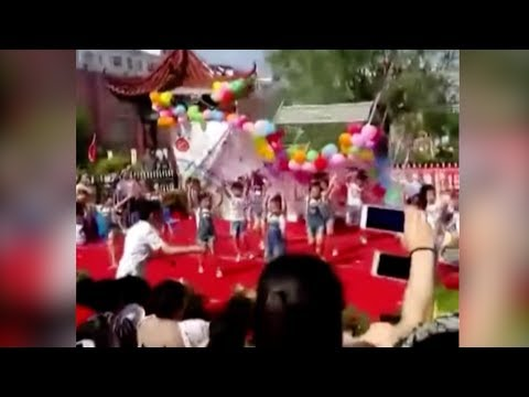 Arab Today, arab today stage scenery collapses on schoolchildren in shandong