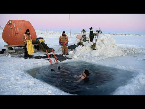 Arab Today, arab today take icy plunge to celebrate solstice