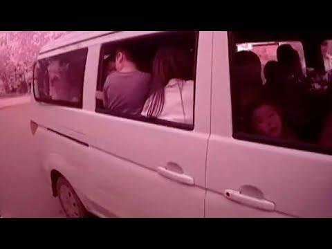 into a sevenseat school bus