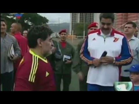 maradona lends support