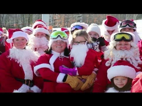 160 santas on the slopes