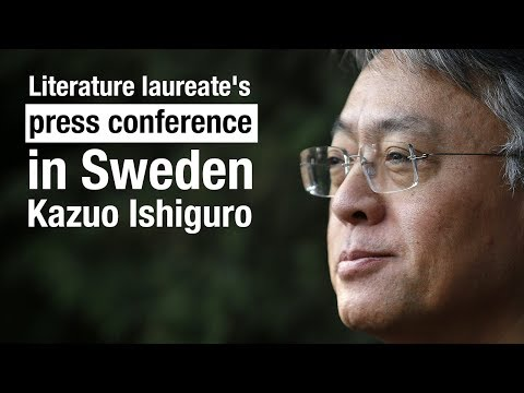 literature laureate's press conference