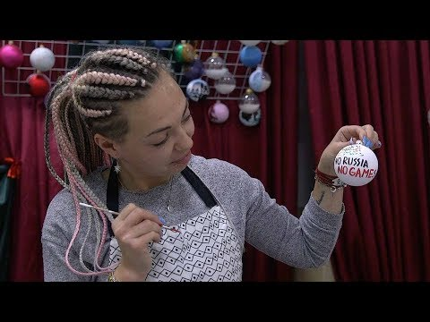 handmade christmas baubles reference russia's 2018