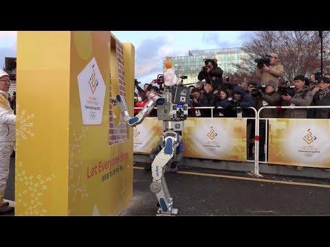 robots run as pyeongchang