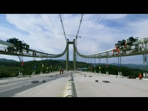superstrong steel cables used for bridge construction