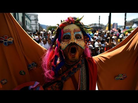 colorful celebration of colombia's blacks and whites carnival