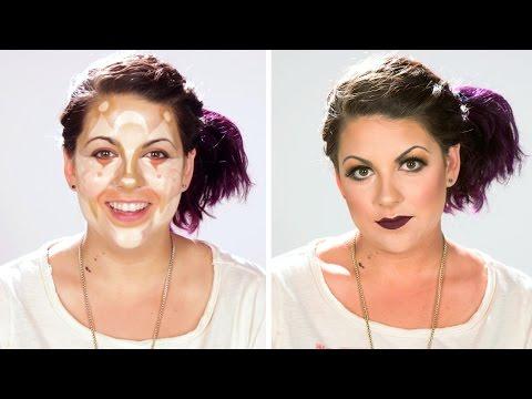 women are transformed through makeup contouring
