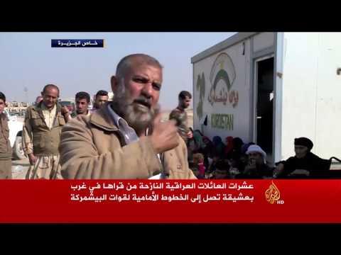 العرب اليوم - بالفيديو النازحون من قرى بعشيقة يتوجّهون إلى مناطق البشمركة