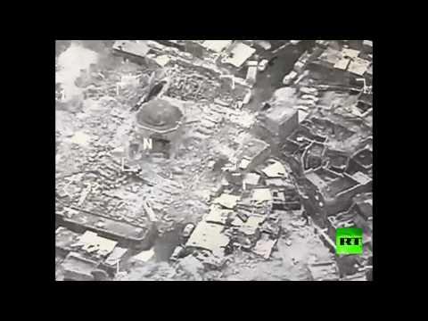 العرب اليوم - شاهد لحظة تدمير المئذنة الحدباء في الموصل