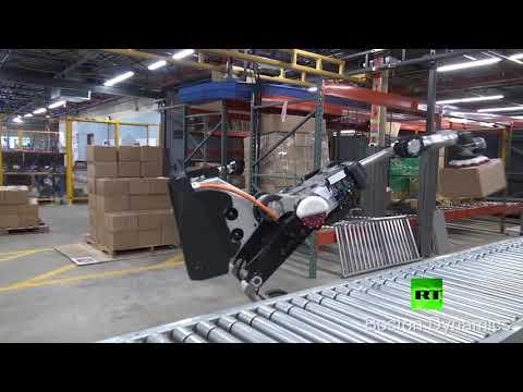 شاهد روبوت جديد قادر على تحميل وإفراغ البضائع