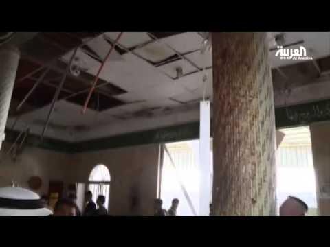العرب اليوم - شاهد: آثار التفجير الانتحاري في مسجد القديح