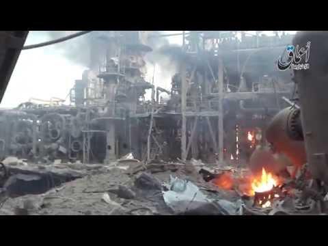 العرب اليوم - شاهد: أكبر مصفاة نفط عراقية شعلة من لهب وكومة ركام