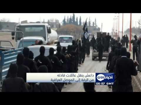 العرب اليوم - شاهدداعشينقلعائلاتقادتهمنالرقةإلىالموصل