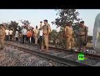 العرب اليوم - شاهد سقوط جرحى جراء خروج قطار عن مساره في الهند