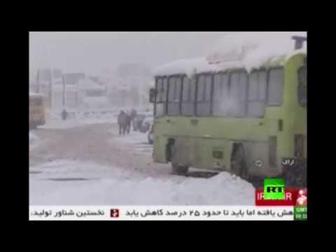 العرب اليوم - بالفيديو الثلوج الكثيفة تغطي جمهورية إيران