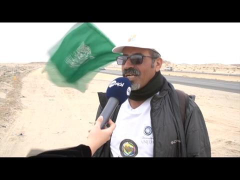 العرب اليوم - الرحالة السعودي القحطاني يصل إلى مشارف الرياض