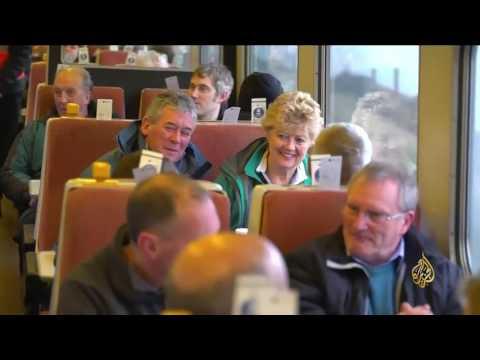 العرب اليوم - بالفيديو  قطار البخار يعود إلى الخدمة في بريطانيا