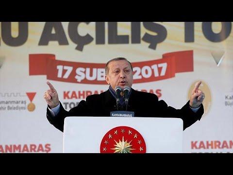 العرب اليوم - شاهد  أردوغان يبدأ حملته للاستفتاء بشأن النظام الرئاسي