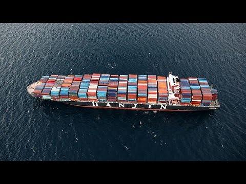 العرب اليوم - شاهد  إعلان إفلاس شركة هانغين العملاقة للشحن