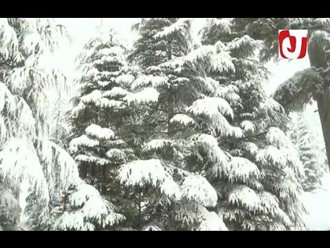 العرب اليوم - مناظر خلابة للأمطار الثلجية في اقليم ميدلت