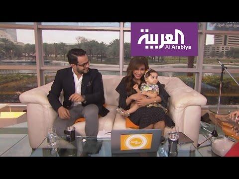 العرب اليوم - ابنة مهيرة عبد العزيز تهنئها في صباح العربية