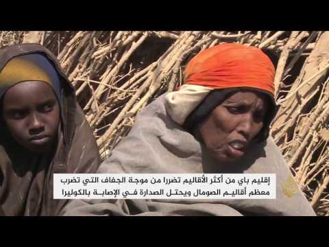 العرب اليوم - شاهد تدفق النازحين المتضررين من الجفاف في الصومال لبيداوا