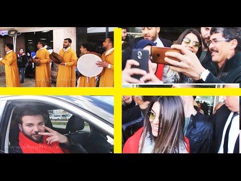 العرب اليوم - شاهد استقبال رائع للفنانين منار ومحمود في مطار محمد الخامس
