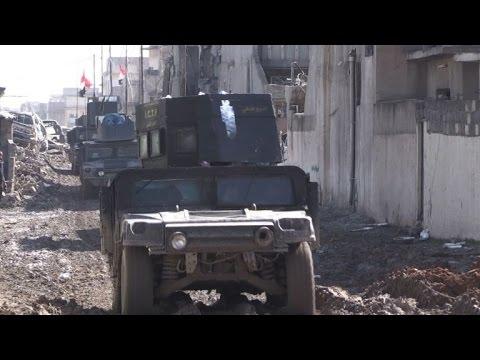 العرب اليوم - بالفيديو القوات العراقية تواصل تقدّمها في غرب الموصل
