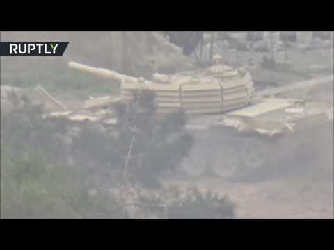 العرب اليوم - شاهد الجيش العربي السوري يحارب المسلحين في حي جوبر