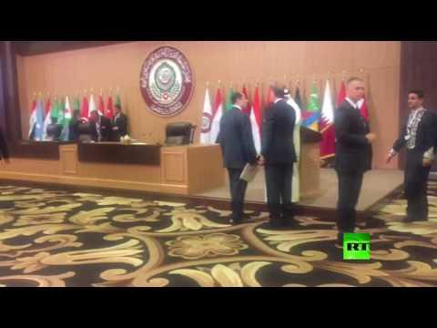 العرب اليوم - بالفيديو مشاهد داخل قاعة اجتماعات القمة العربية