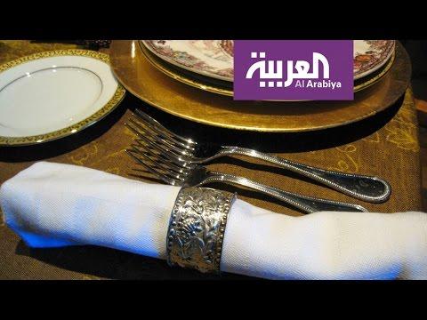 العرب اليوم - شاهد طرق لتحويل مناديل الطعام إلى مروحة وباقة ورد في دقيقة