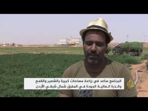 العرب اليوم - استخدام المياه المعالجة في الزراعة في مخيم الزعتري