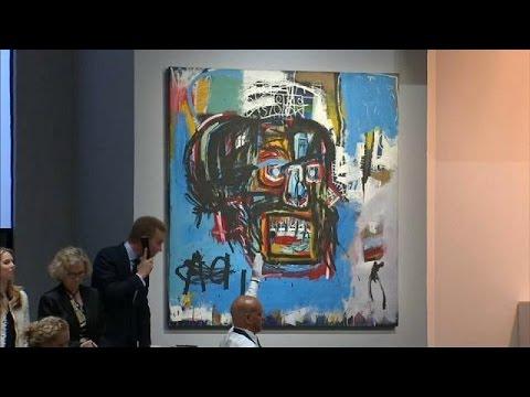 العرب اليوم - شاهد بيع لوحة للرسام الأميركي الراحل باسكيا بـ110 ملايين دولار