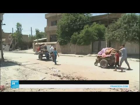 العرب اليوم - بالفيديو عائلات عراقية تعود إلى الأحياء المحرّرة في الموصل