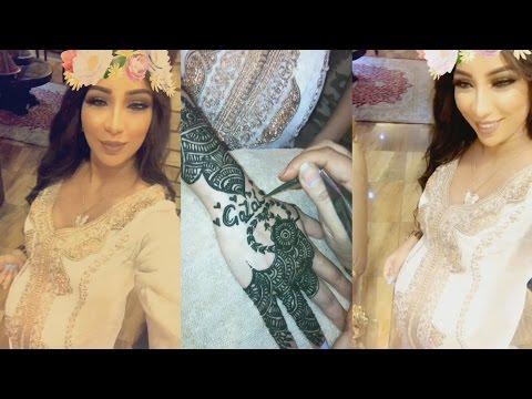 العرب اليوم - بالفيديو دنيا بطمة تحتفل بمناسبة اقتراب موعد ولادتها