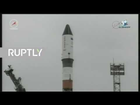 العرب اليوم - لحظة إطلاق شاحنة بروغريس إم إس–06 الروسية إلى المحطة الفضائية الدولية
