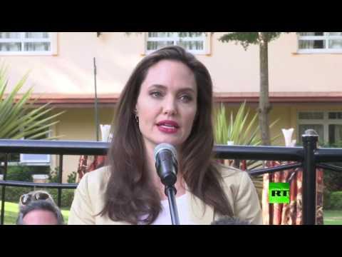 العرب اليوم - أنجيلينا جولي في كينيا للاحتفال باليوم العالمي للاجئين