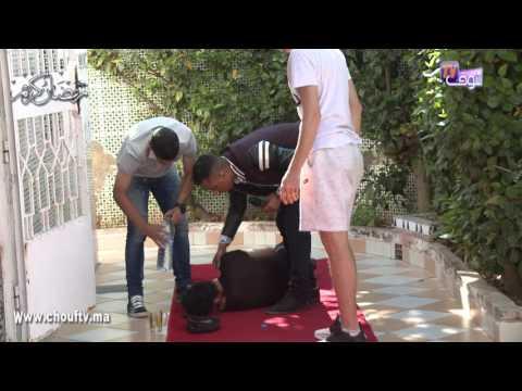 العرب اليوم - شاهد النجم المغربي يوسف القديوي يقع في أحد المقالب التلفزيونية