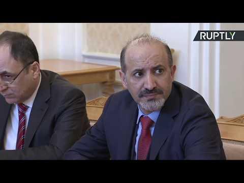العرب اليوم - شاهد سيرغي لافروف يستقبل أحمد الجربا