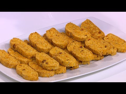 العرب اليوم - طريقة إعداد ومقادير بسكوتي الجبن و الطماطم المجففة