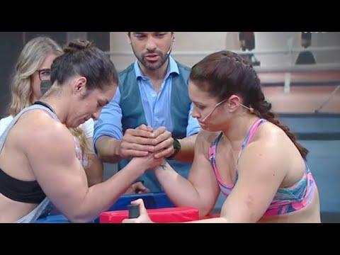 العرب اليوم - امرأة تتنافس على لقب المرأة الحديدية تكسر ذراعها على الهواء