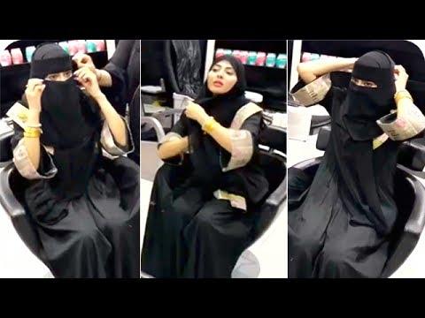 العرب اليوم - مريم حسين تتعلم طريقة لبس البرقع