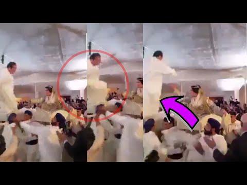 العرب اليوم - شاهد سقوط مروع لعريس أمام المعازيم في المغرب