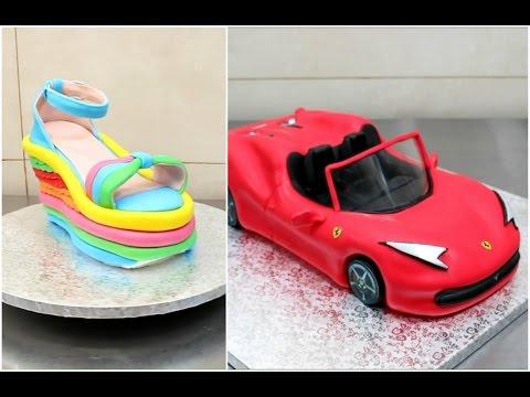 العرب اليوم - شاهد امرأة تبدع بشكل خرافي في عمل الكيك على شكل سيارات وأحذية