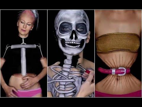 العرب اليوم - شاهد امرأة صربية تستخدم المكياج لتحويل جسدها إلى لوحات فنية مذهلة