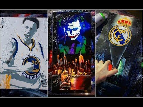 العرب اليوم - شاهد شاب يفاجيء المارة في الشوارع برسم لوحات رائعة بدقائق قليلة