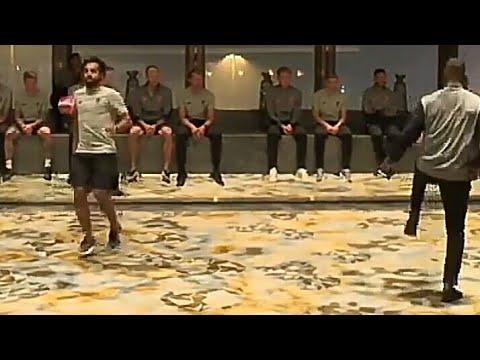 العرب اليوم - شاهد محمد صلاح وفريق ليفربول يتنافسون في الوقت الترفيهي في هونج كونج
