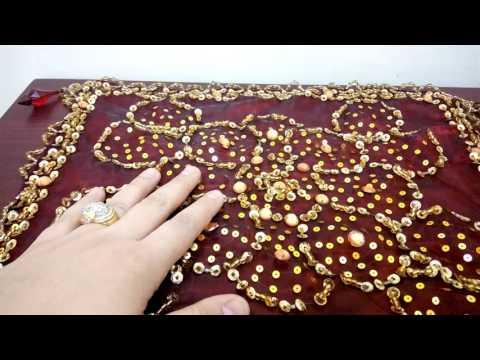 العرب اليوم - طريقة صناعة مفرش اورجانزا بالخرز