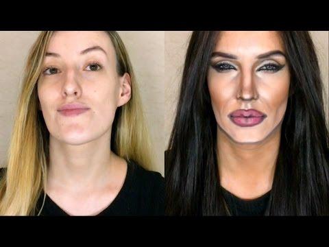العرب اليوم - فتاة تحول نفسها لأنجلينا جولي في دقائق